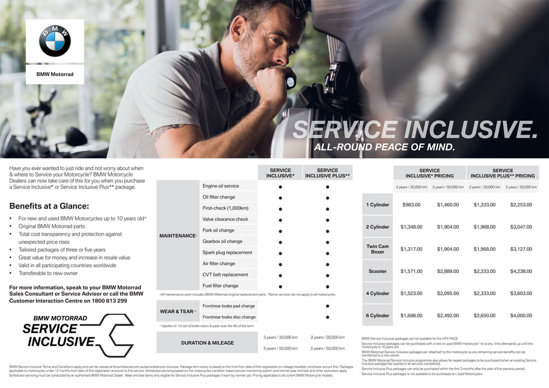 BMW Motorrad Service Inclusive - All-round Peace of Mind